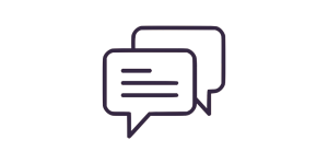 image of chat boxes
