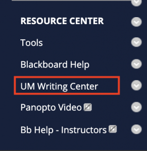 add the writing center